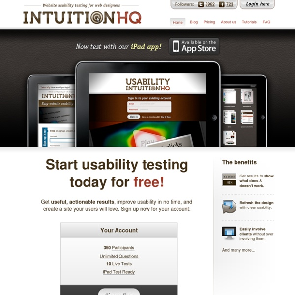 IntuitionHQ - Website Usability Testing