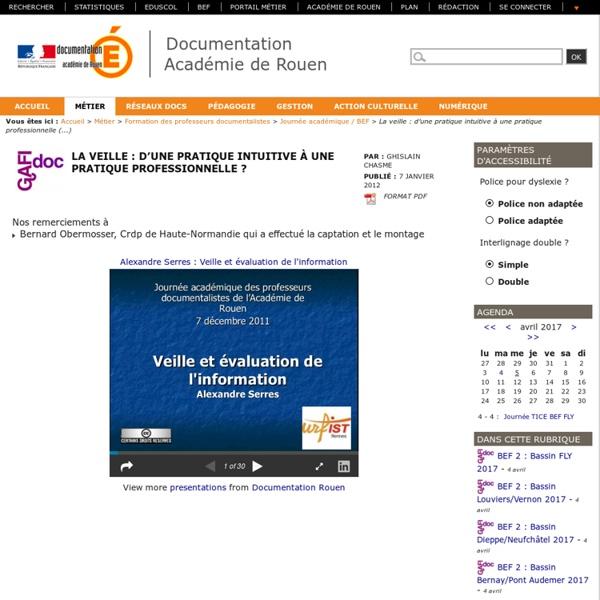 Journée Veille - CRDP Rouen