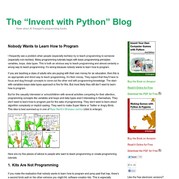 Nobody Wants to Learn How to Program