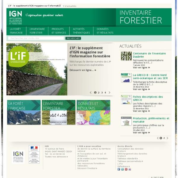 Cartographie dynamique forêt française