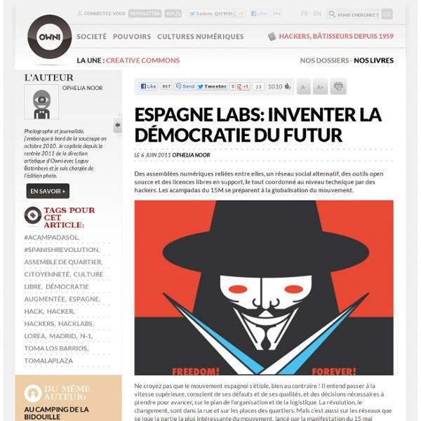 Espagne Labs: inventer la démocratie du futur