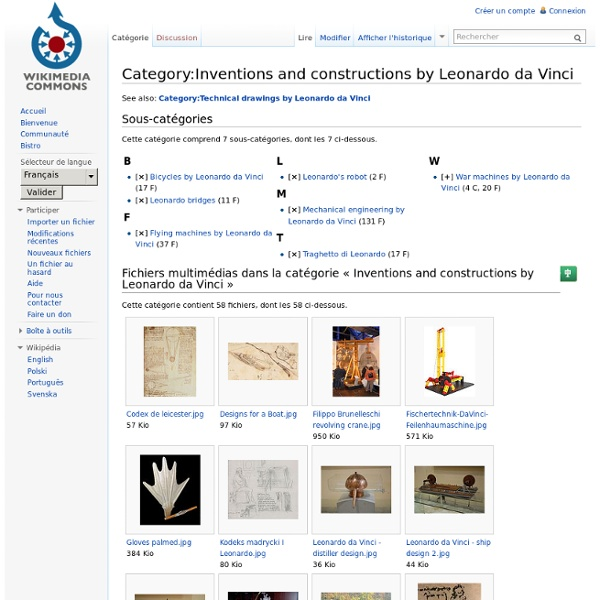 Category:Inventions and constructions by Leonardo da Vinci