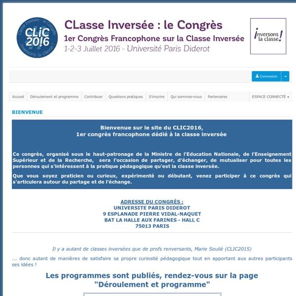 Classe Inversée : le congrès - Sciencesconf.org