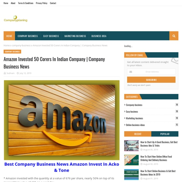 Amazon Invested 50 Corers In Indian Company