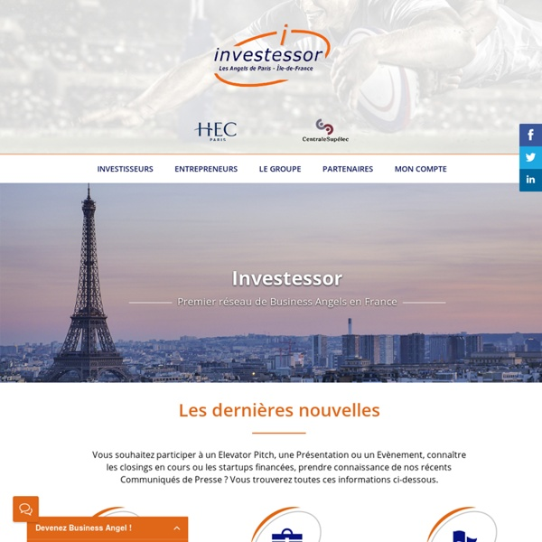 Investessor - Les Angels de Paris - Île-de-France - 1er réseau Business Angels en France