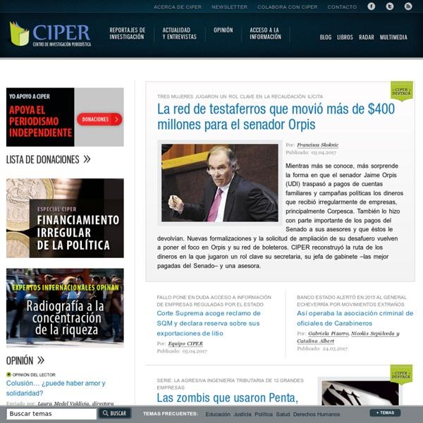 CIPER Chile » Centro de Investigación e Información Periodística
