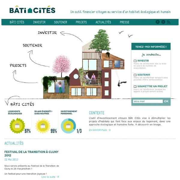 Un outil financier citoyen au service d'un habitat écologique et humain