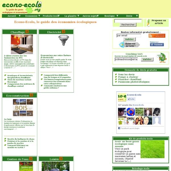 Guide des gestes et investissements écologiques et économiques