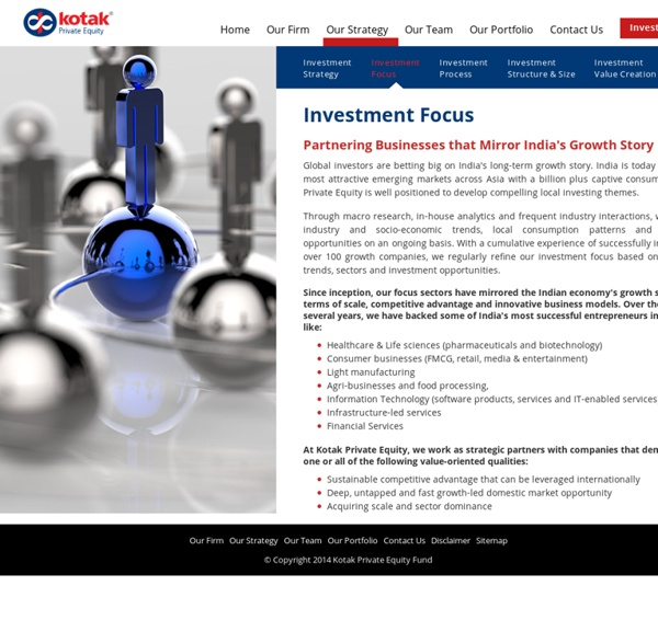 Private Equity Investment Funds - Kotak Private Equity