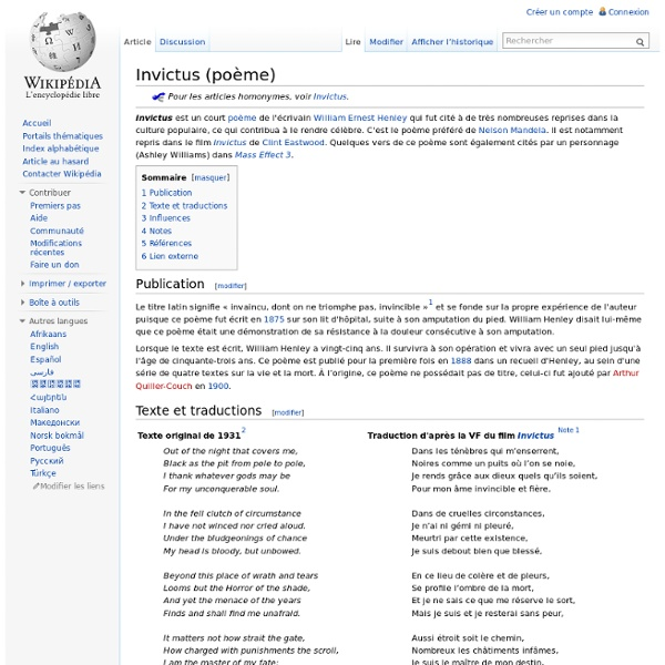 Invictus (poème)