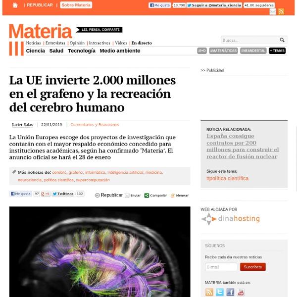 La UE invierte 2.000 millones en el grafeno y la recreación del cerebro humano