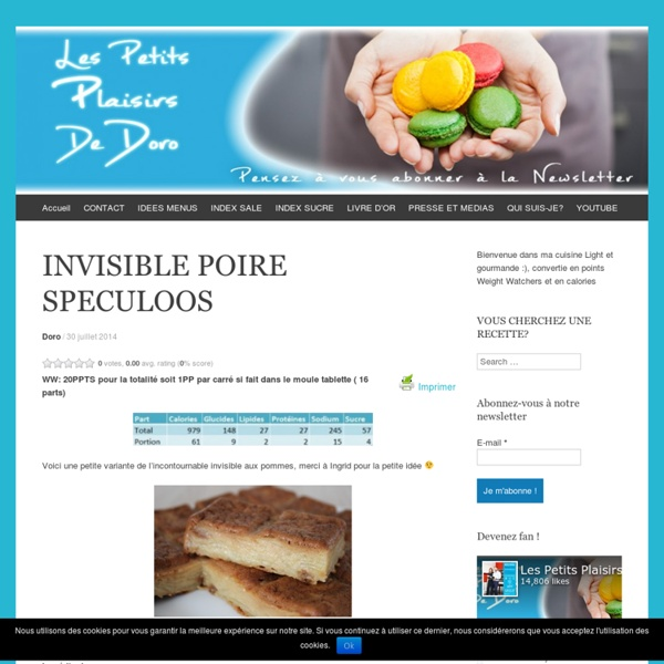 INVISIBLE POIRE SPECULOOS