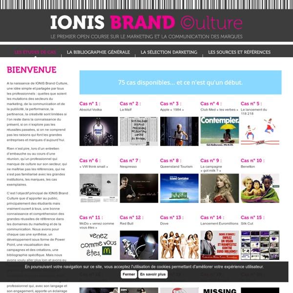 IONIS Brand Culture (dont vidéo)