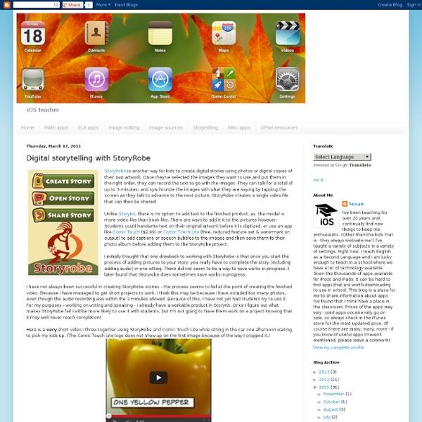 Digital storytelling with StoryRobe