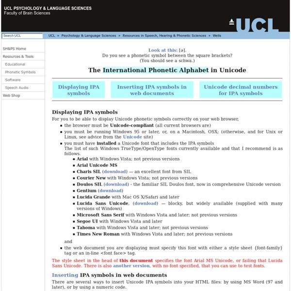 IPA transcription in Unicode