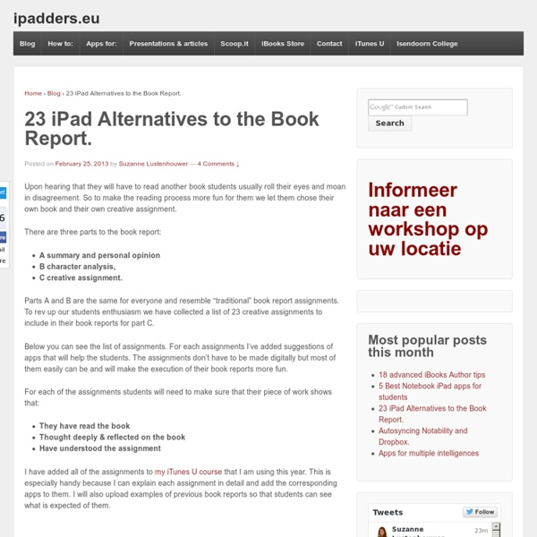 23 iPad Alternatives to the Book Report.