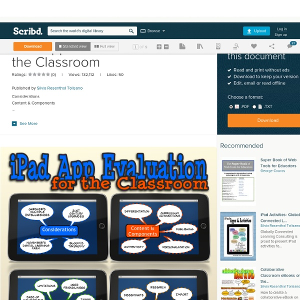 iPad App Evaluation for the Classroom