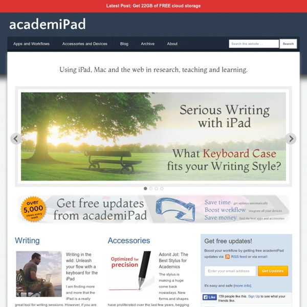 iPad, Mac and web apps for academics