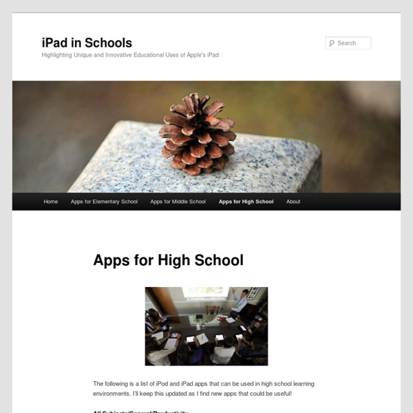 iPad Apps for High School