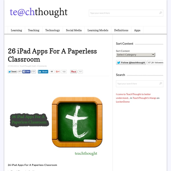 26 iPad Apps For A Paperless Classroom