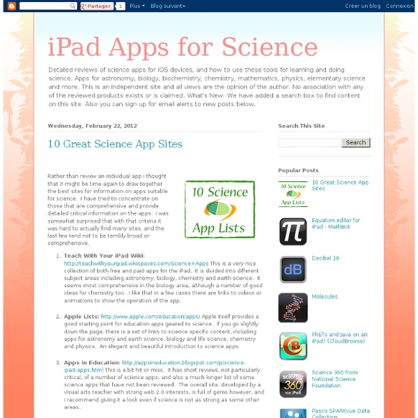 10 Great Science App Sites