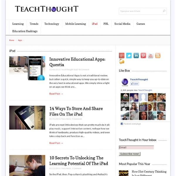 iPad Archives - TeachThought