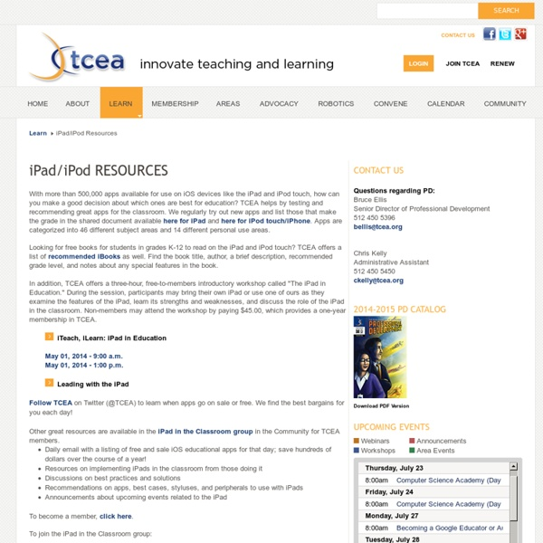 iPad/iPod Resources