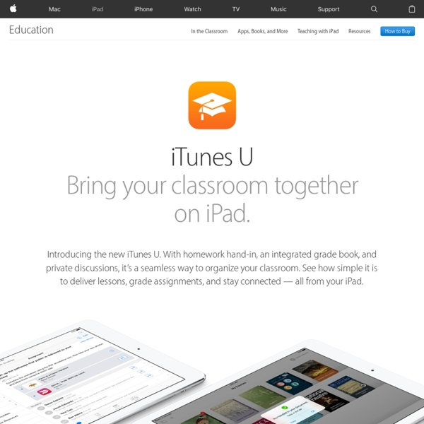 Apple.com :iTunes U - Learn Anything, Anywhere, Anytime.
