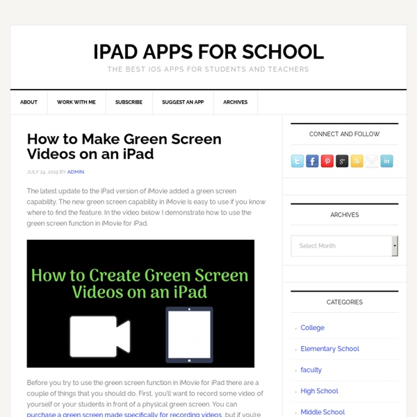 The Best iOS Apps for Students and Teachers