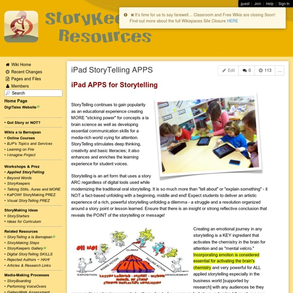StoryKeepers - iPad StoryTelling APPS