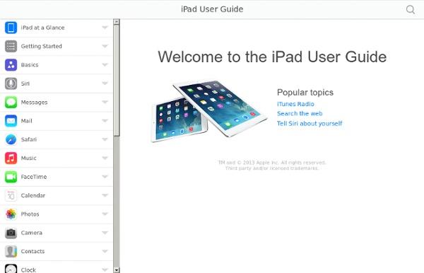 Guide de l'utilisateur de l'iPad