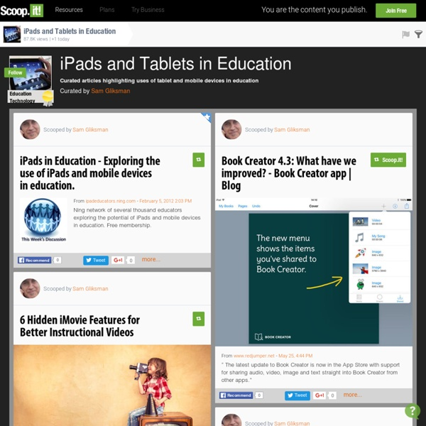 iPads and Tablets in Education