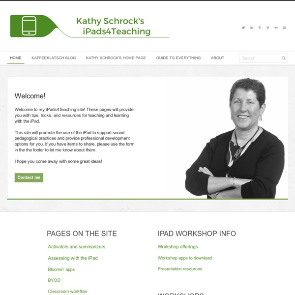 *Kathy Schrock's iPads4teaching (Scan)