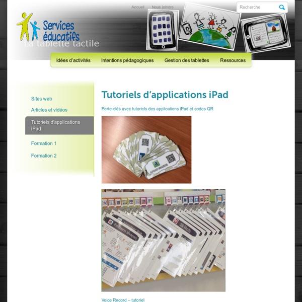 iPad » Tutoriels d'applications iPad