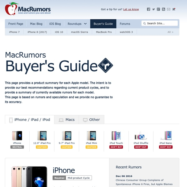 Mac Buyer's Guide: Know When to Buy Your Mac, iPod or iPhone
