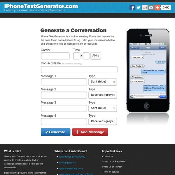 iPhone text generator