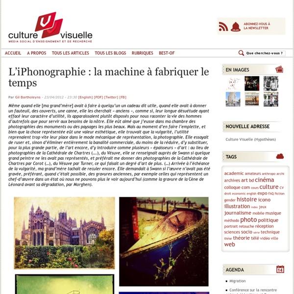 L'iPhonographie : la machine à fabriquer le temps