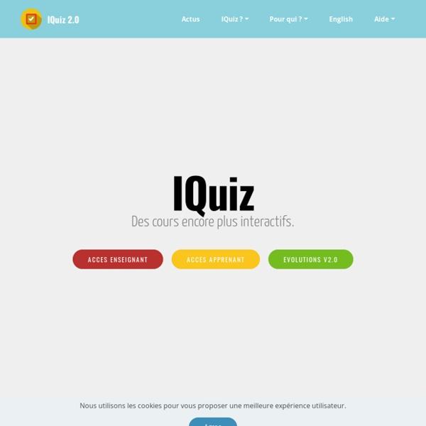 IQuiz, des cours plus interactifs.