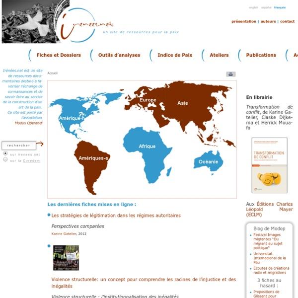 <Irenees.net>: Site web de Ressources pour la Paix