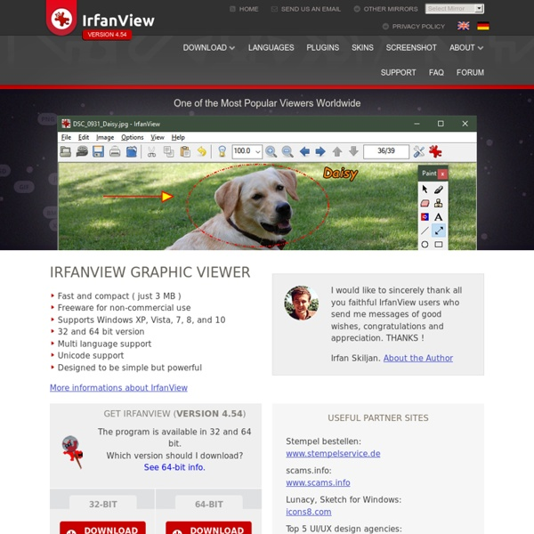 IrfanView - Official Homepage - one of the most popular viewers worldwide