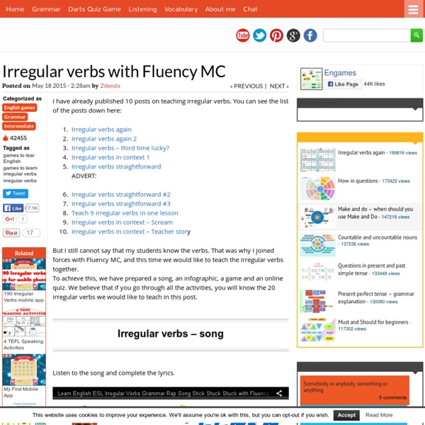 Learn Irregular Verbs with Engames and Fluency MC