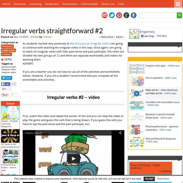 Irregular verbs straightforward #2