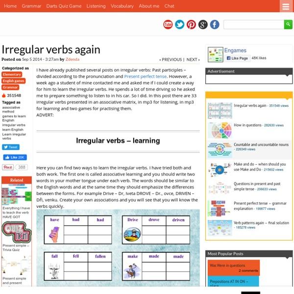 Irregular verbs again