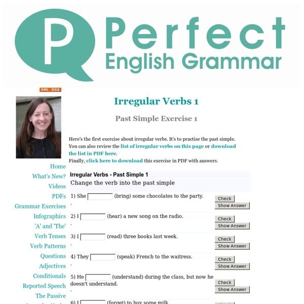 Irregular Verbs Exercise 1