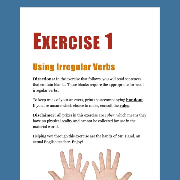 Irregular Verbs — Exercise 1