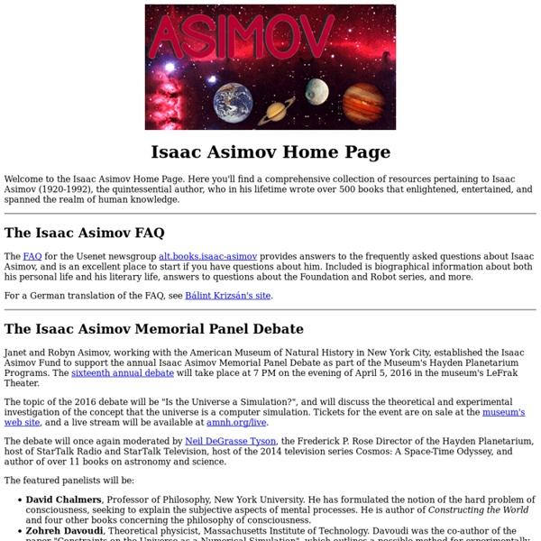 Isaac Asimov Home Page