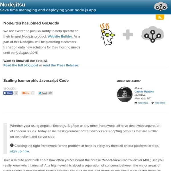 Scaling Isomorphic Javascript Code