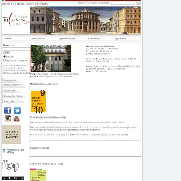 Institut Culturel Italien de Paris