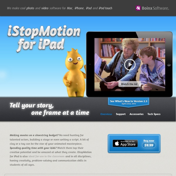 iStopMotion for iPad: iPad Stop Motion and Time Lapse Software