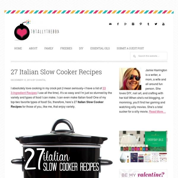 27 Italian Slow Cooker Recipes